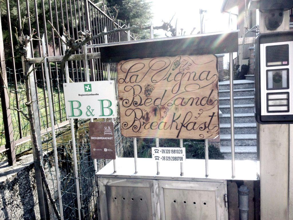 Bedandbreakfast La Vigna Primaluna cartello2